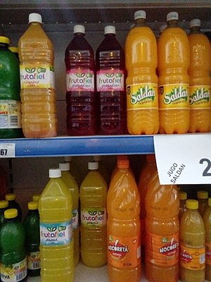 Squash (drink) - Assorted bottles of squash at a grocery store in Argentina