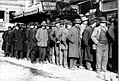 Bowery men waiting for bread in bread line, New York City, Bain Collection (cropped).jpg