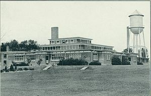"Bowmanville POW camp - Cafeteria and site of ""Battle of Bowmanville"", c. 1930"