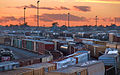 Boxcars, Rialto, California, Sunset.jpg