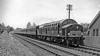 British Rail Class 40 - One of the prototype locomotives, D205 on the GEML in 1963.