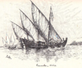 Bras de Oliveira Caravel with oars.png