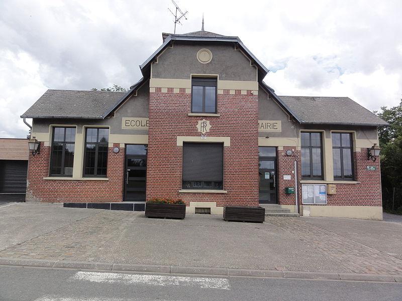 Bray-Saint-Christophe (Aisne) mairie - école