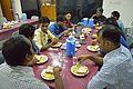 Breakfast - Bengali Wikipedia 10th Anniversary Celebration - YWCA Guest House - Dhaka 2015-05-30 1422.JPG