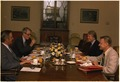 Breakfast meeting with Walter Mondale, Cyrus Vance, Jimmy Carter and Zbigniew Brzezinski. - NARA - 176019.tif