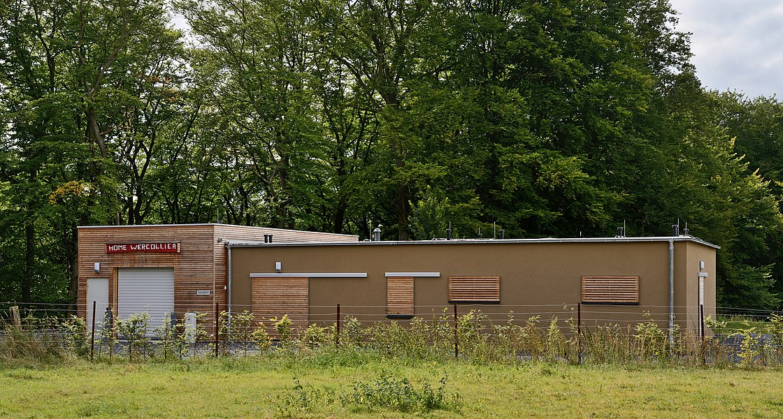 Luxembourg, Bridel: Home Lucien Wercollier (1908-2002) of the local scouting group Däreldéieren (Hedgehogs) (FNEL) inaugurated in Sept. 2011.