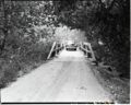 Bridge across Virgin River near South Entrance - access to properties east of river. ; ZION Museum and Archives Image 103 01 005 (ebb796f2f1a14bfdbf4dd20bb6136ad1).tif