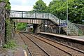 Bridges and signal box, New Mills Central railway station (geograph 4512182).jpg