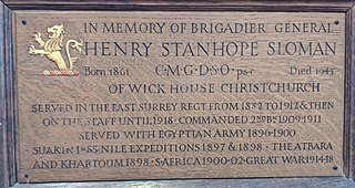 Henry Stanhope Sloman British general