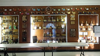Brighton High School (Rochester, New York) - Trophy case in the front lobby