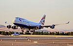 British Airways 747 landing at LAS, June 2011.jpg