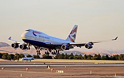 British Airways 747 landing at LAS, June 2011