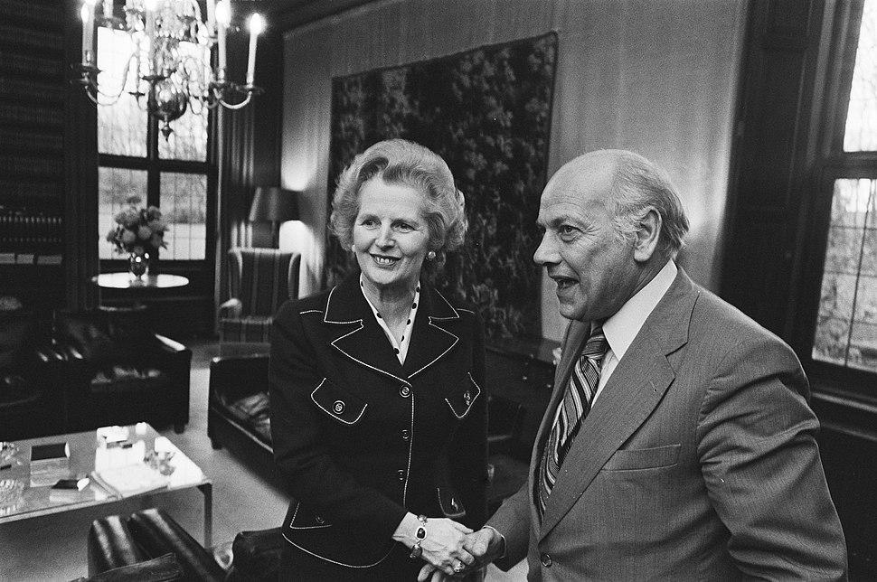Britse oppositieleidster Margeret Thatcher bezoekt Den Uyl op Catshuis, Bestanddeelnr 928-9238