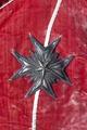 Broderad storkorskraschan av silvertrådar - Livrustkammaren - 108328.tif