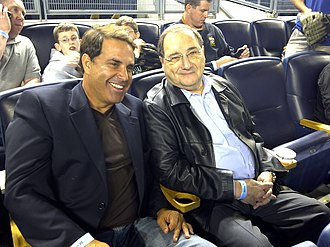 Abraham Foxman - Foxman with Rick Sanchez in New York City at Yankee Stadium
