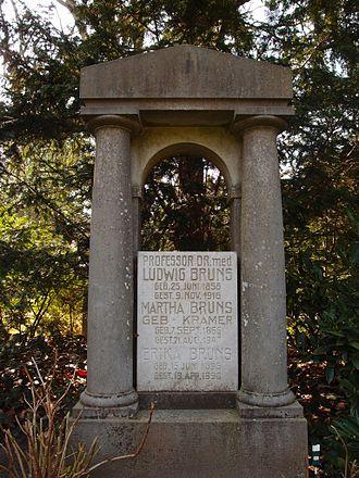 Ludwig Bruns - Gravesite of Ludwig Bruns at the Engesohder Friedhof in Hannover