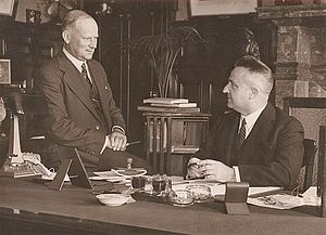 Michael Bruxner - Bruxner with Premier Stevens in 1939. Bruxner worked well with Stevens and their friendship ensured the government's survival for a record nine years.