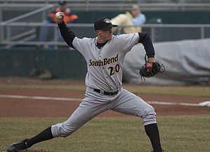 Bryan Augenstein - Augenstein pitching for the South Bend Silver Hawks, Single-A affiliates of the Arizona Diamondbacks, in 2008.