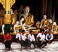 Buddha, disciples, and youths (8436547607).jpg