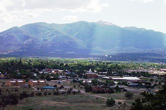Buena Vista, Colorado - Buena Vista at the foot of the Collegiate Peaks