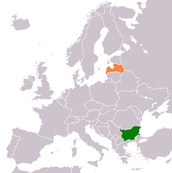 Map indicating locations of Bulgaria and Latvia
