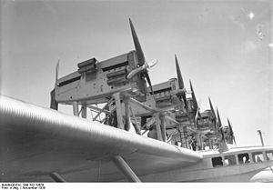 Dornier Do X - Engines on the wing