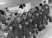 Bundesarchiv Bild 183-L0822-0026, XX. Olympiade, DDR-Turnerinnen, Training