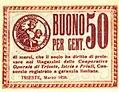 Buono per cent. 50 delle Cooperative Operaie di Trieste, Istria e Friuli (1920).jpg