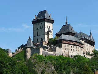 gothic castle founded by Charles IV