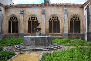 Urraca of Covarrubias - Cloister and fountain of the Abbey of San Cosme and San Damian in Covarrubias built in the 15th-century at the site of the ancient monastery.