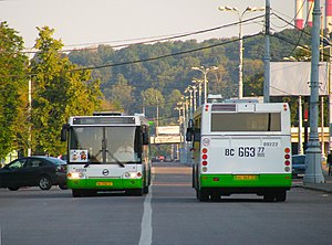 LiAZ (Russia) - Two LiAZ-5292.20 buses in Moscow