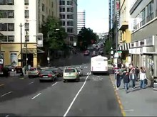 Archivo:Bus Ride Through Downtown Seattle (Time-lapse).ogv