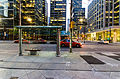 Bus Stop Financial District Toronto May 2012.jpg