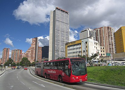 How to get to Avenida Caracas with public transit - About the place