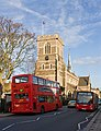 Buses and St. John The Baptist - geograph.org.uk - 1579283.jpg