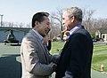 Bushes greet South Korean President Lee Myung-bak.jpg