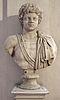 Busto con testa di caracalla fanciullo, opera pseudoantica dal tipo dell'arco degli argentari a roma.JPG