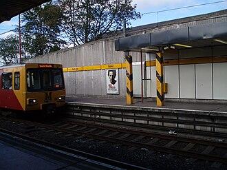 Byker Metro station - Image: Byker Metro station