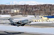 C-17 Globemaster III takes off from Elmendorf Air Force Base