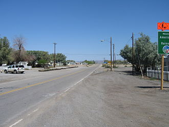 California State Route 127 - In Baker, looking in Death Valley direction