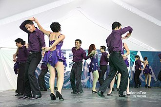 Salsa (dance) - Students from Monterrey Institute of Technology and Higher Education, Mexico City perform at Culture Week