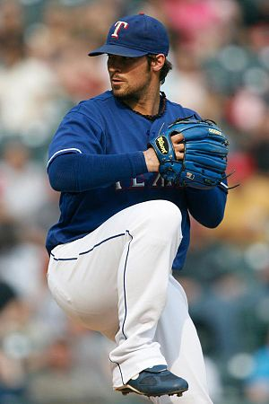 C. J. Wilson - With the Texas Rangers, Wilson coordinated his glove color with that of his jersey