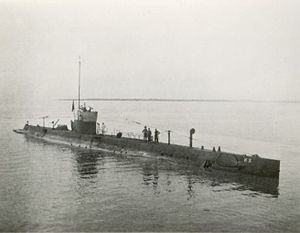 Dutch Submarine K X, in Surabaya, Dutch East Indies.