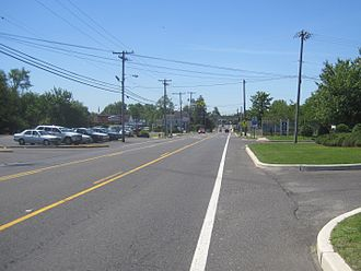 Wrightstown, New Jersey - Fort Dix Street (CR 545) in Wrightstown