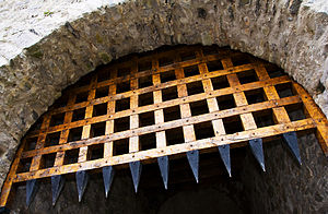 Portcullis - Portcullis at Cahir Castle