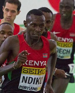 Caleb Ndiku Kenyan runner