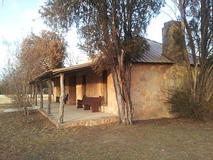Coleman, Texas - Camp Colorado replica administration building