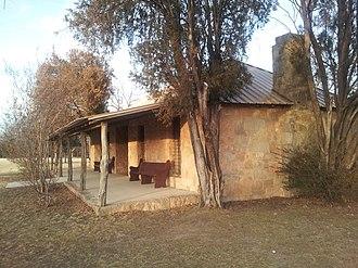 Coleman, Texas - Camp Colorado replica administration building