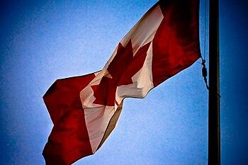 Canada flag at CNE. Taken in Toronto @ Decembe...