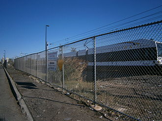 Canal Crossing, Jersey City - Site of proposed Caven Point Avenue station on HBLR